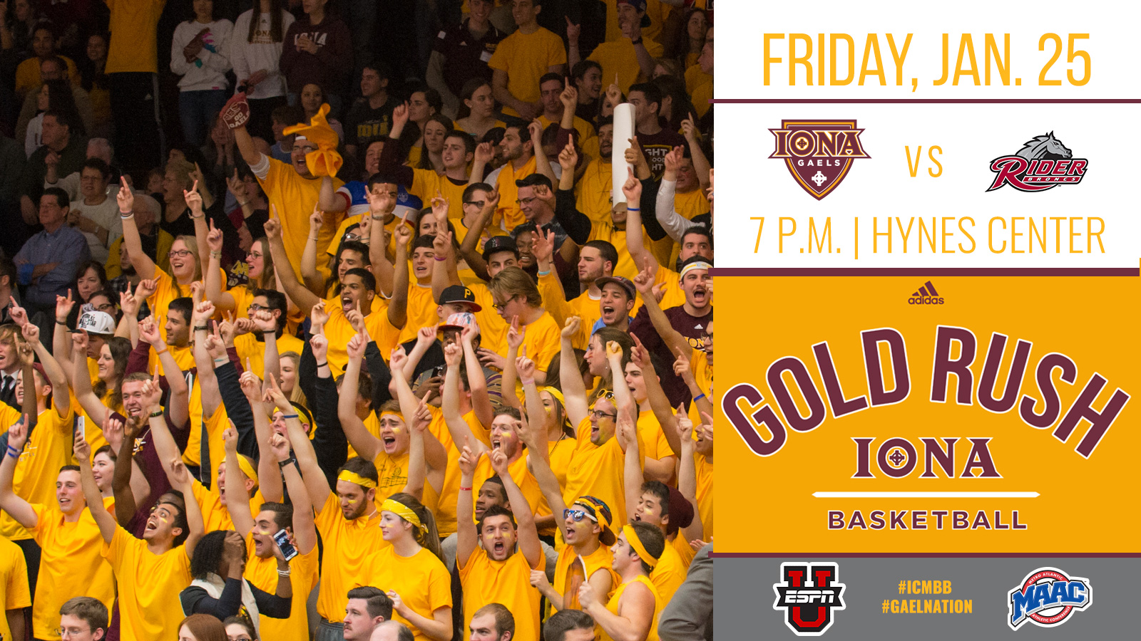 Annual Gold Rush Game Set For Friday, Jan  25 - Iona College Athletics